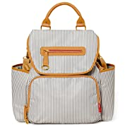 Skip Hop Baby Grand Central Take-It-All Diaper Backpack, French Stripe
