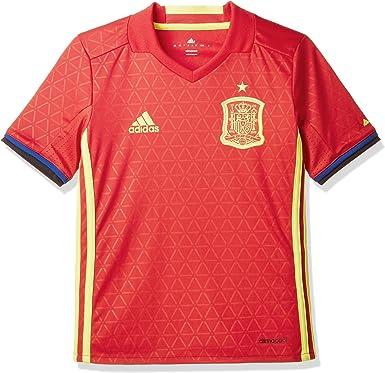 adidas 1ª Equipación Federación Española de Fútbol 2016/2017 - Camiseta Oficial niños: Amazon.es: Zapatos y complementos