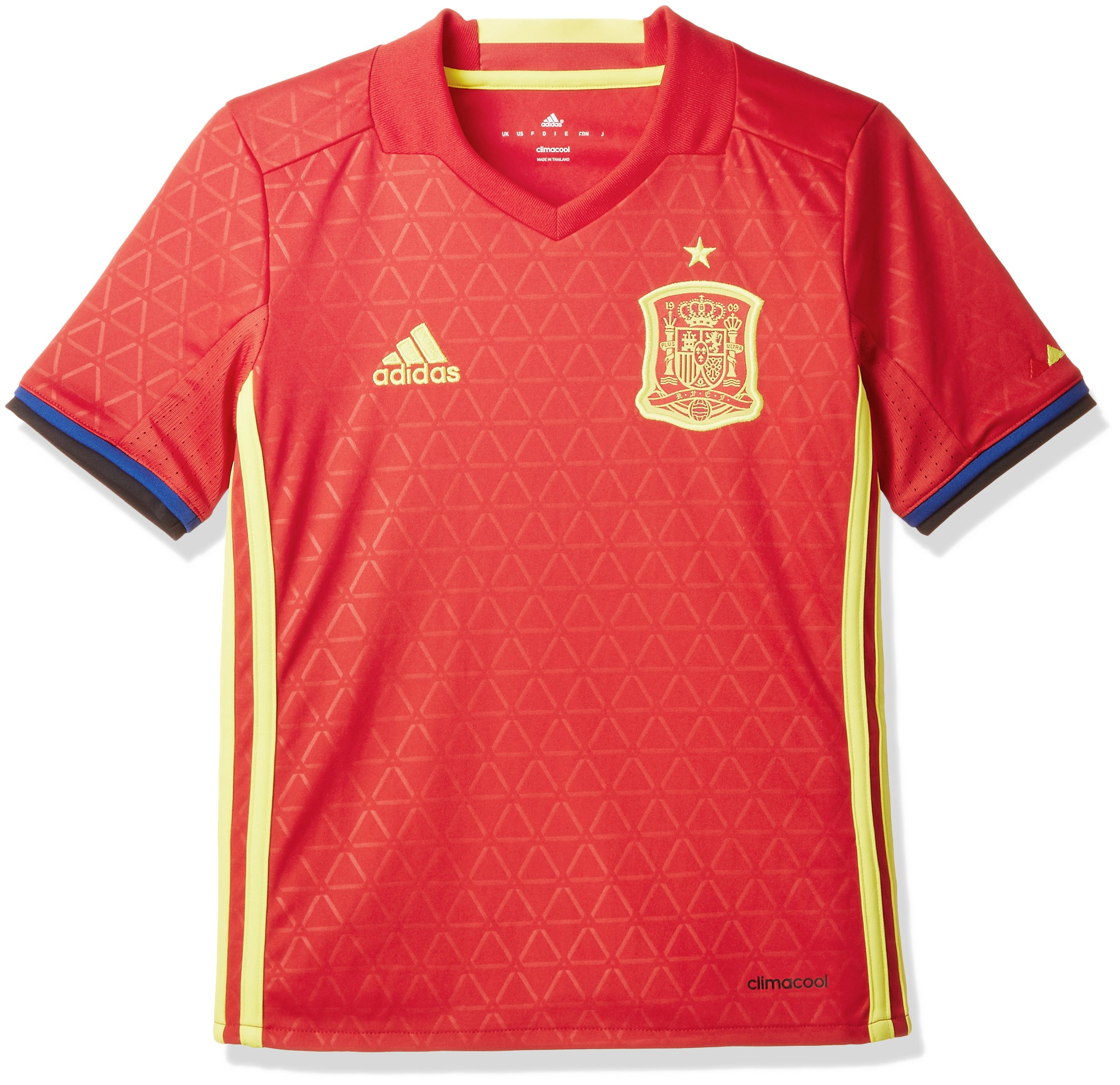 Adidas FEF H JSY Y Camiseta Selección Española de Futbol 1ª Equipación 2016/2017,