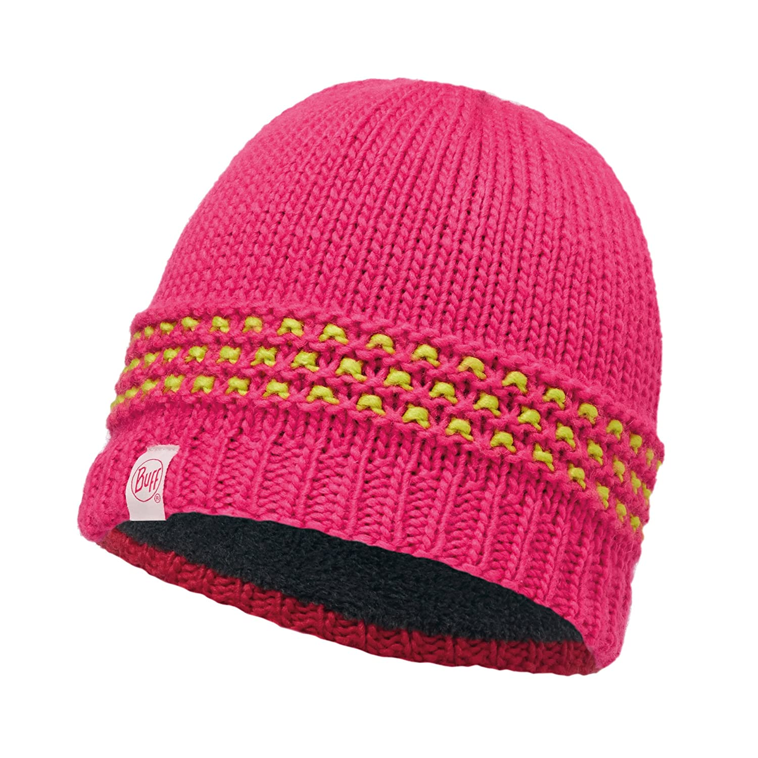 Buff Childrens Knitted and Polar Hat