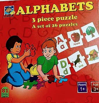 Alphabets 3 Piece Puzzle
