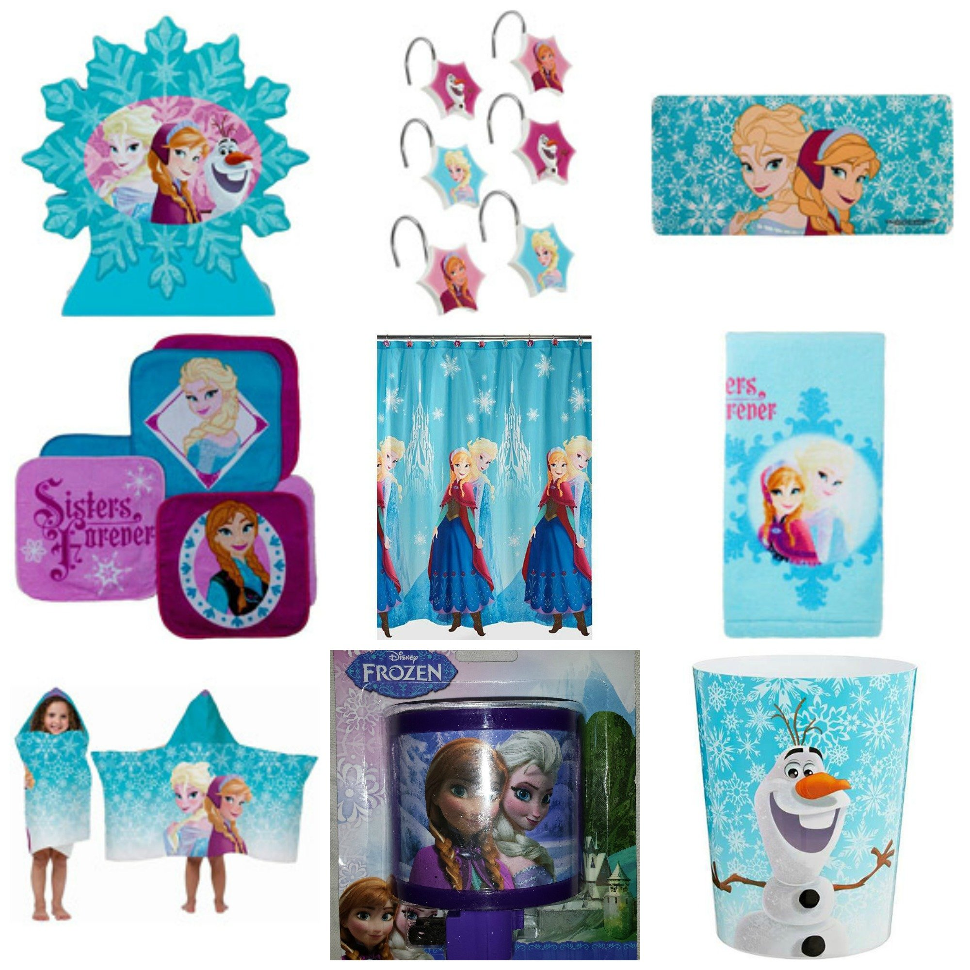 Disney Frozen Ultimate 9 Piece Bathroom Accessories Set by Disney