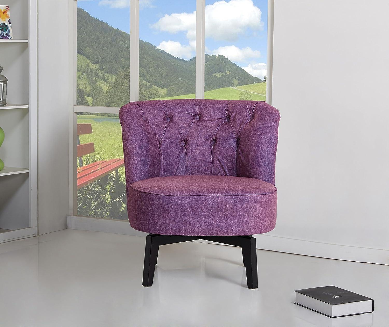 Purple Swivel Barrel Chair