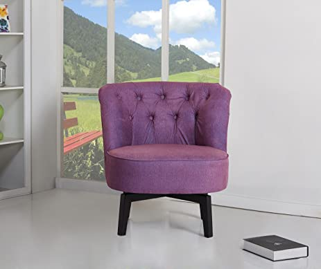 Delicieux Gold Sparrow Raleigh Swivel Chair, Purple