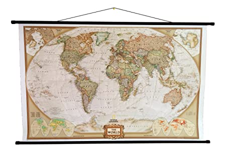 National Geographic World Political Map.National Geographic Laminated World Political Wall Map Executive
