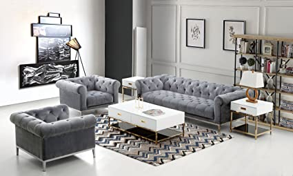 Amazon Com Diamond Furniture Monroescgr Monroe Tufted Sofa Chair