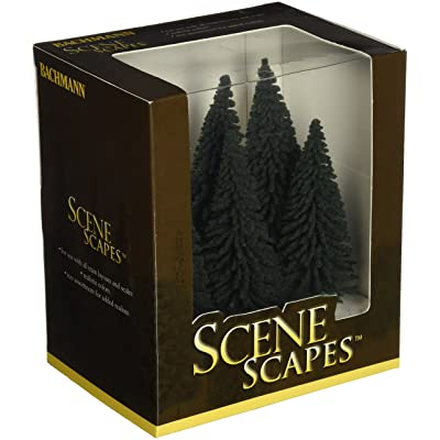 "Bachmann Trains - SCENE SCAPES - 5""- 6"" PINE TREES (6 per box) - HO Scale: Toys & Games"
