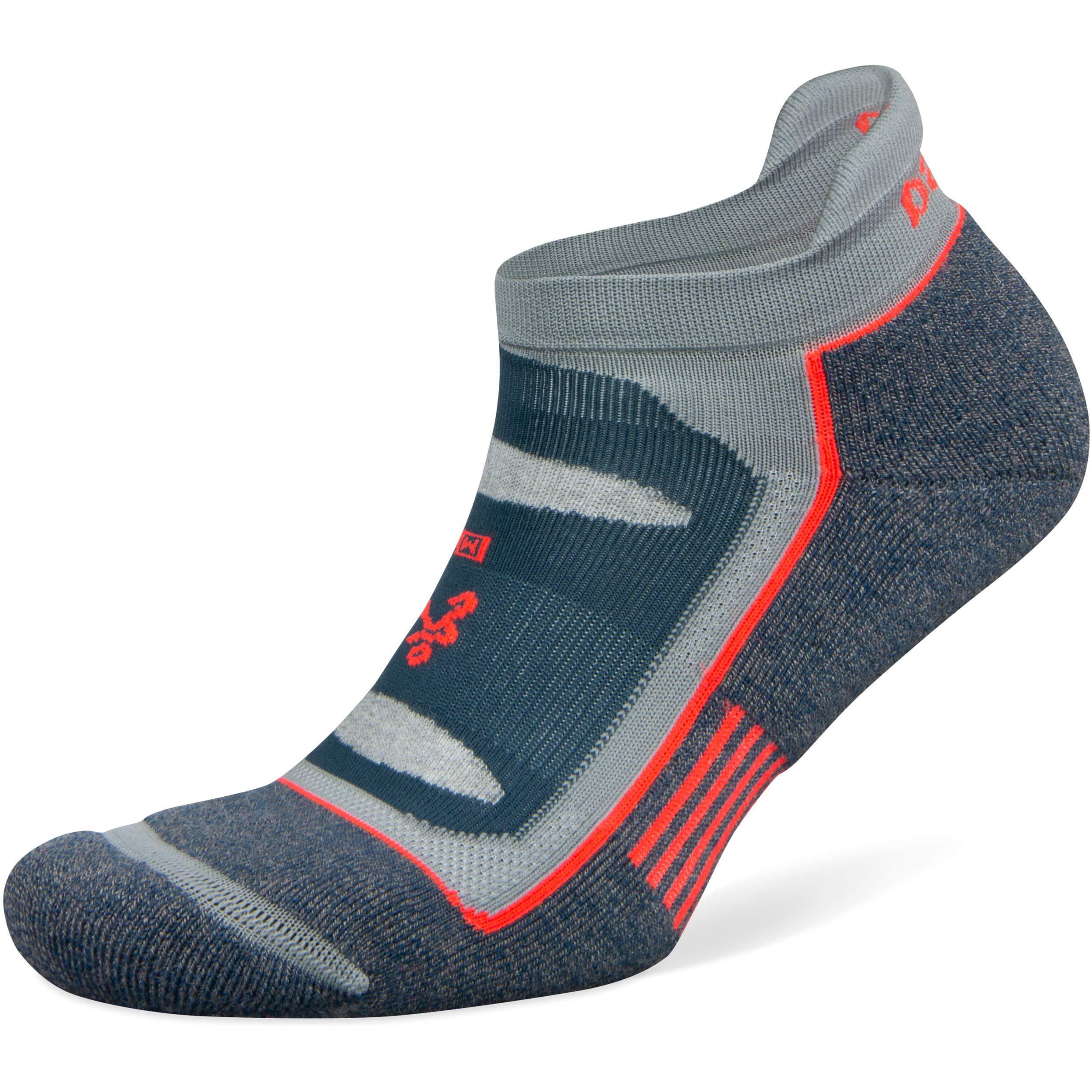 Balega Blister Resist No Show Socks for Men and Women (1 Pair), Legion Blue/Grey, Small by Balega