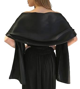 scegli originale 100% di alta qualità vendite all'ingrosso Silky Satin stola dell'involucro dello scialle sciarpa Pashmina per la  sposa damigelle in Avorio Bianco Nero Blu Argento Oro Rosa Grigio Verde