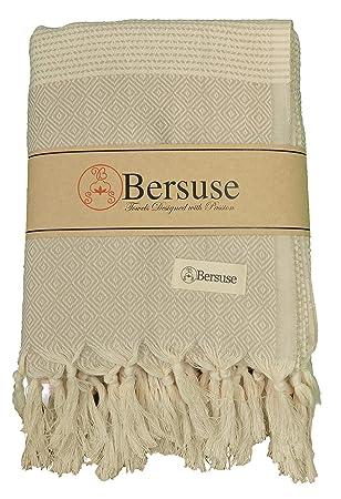 Bersuse 100% Algodón - Hierapolis XL Toalla turca de manta - Cama multiusos o colchón, cubierta de ...