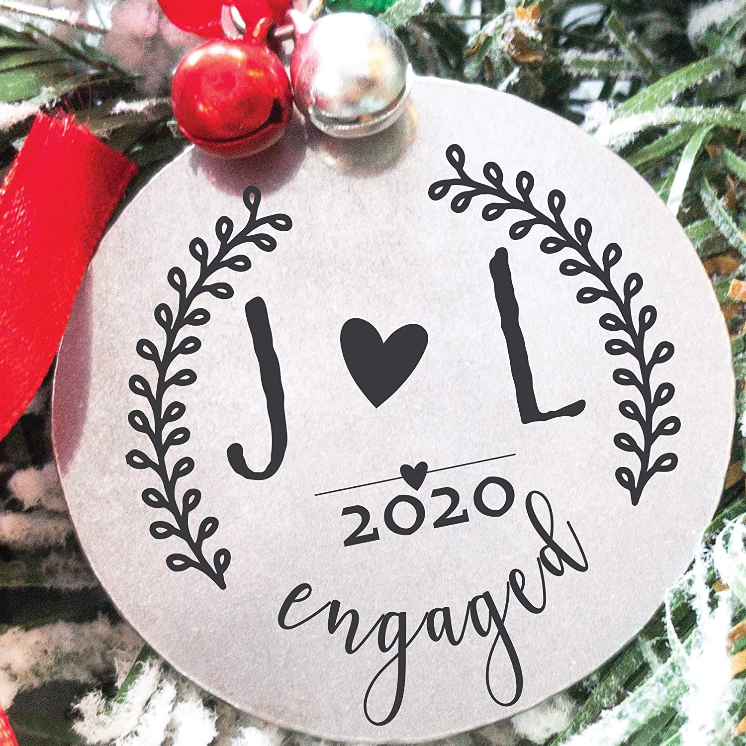 2020 Feince Christmas Gifts Amazon.com: Personalized Engaged 2020 Christmas Ornament 2020