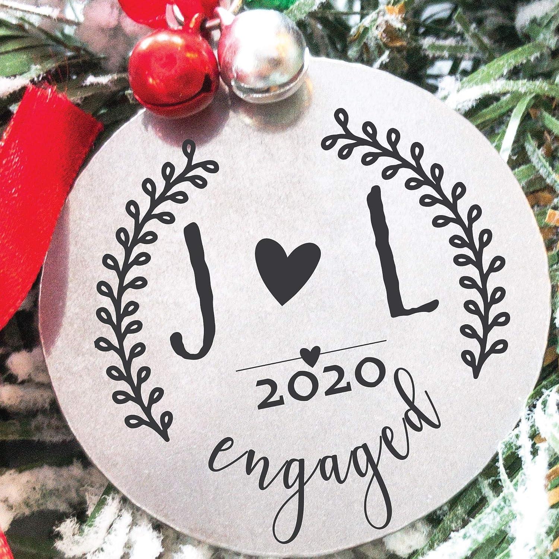 Amazon.com: Personalized Engaged 2020 Christmas Ornament 2020