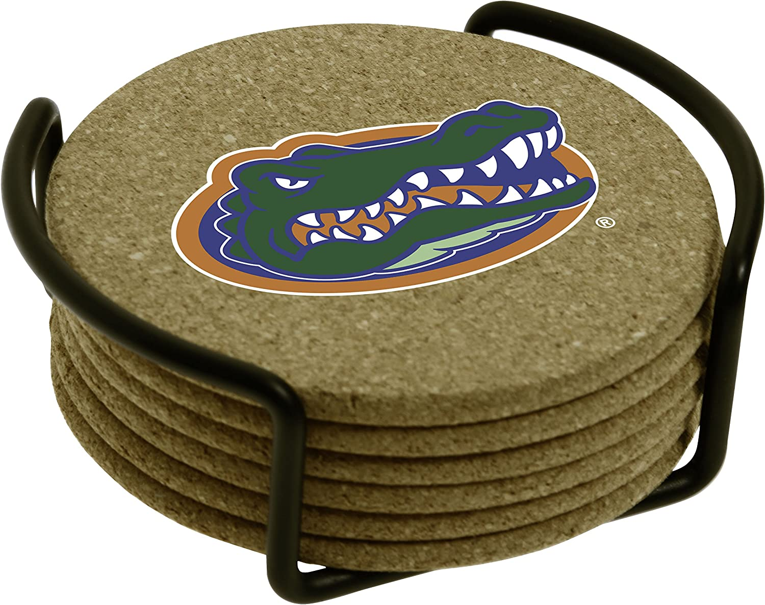 Amazon Com Thirstystone University Of Florida With Holder Included Cork Gift Set Business Card Holders Coasters