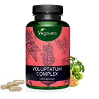 Maca, Tribulus e Ginseng Vegavero® | 120 capsule | Migliora Resistenza e Prestazione | Voluptatum Complex | Vegan