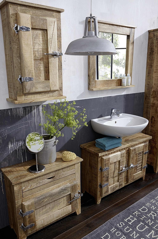 SIT Möbel Frigo 2507 01, Unterschrank Mit 2 Türen, Aus Mangholz, Natur,  Kühlschrankgriffe, 87 X 30 X 60 Cm: Amazon.de: Küche U0026 Haushalt