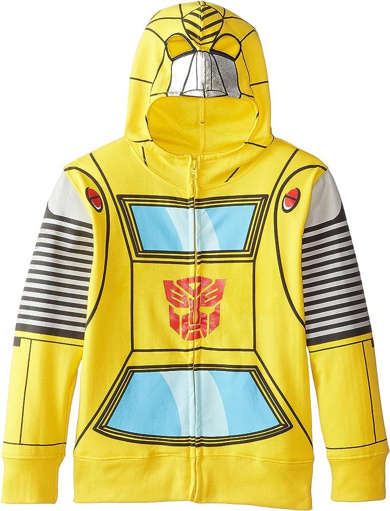 18 XL Transformers Boys/' Bumblebee Character Hoodie