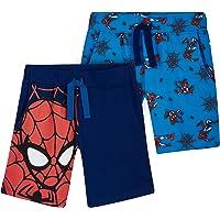 Marvel Spiderman Pantalones Cortos, Pack de 2 Pantalon Corto Niño para Deporte Casa, Merchandising Oficial Regalos para…