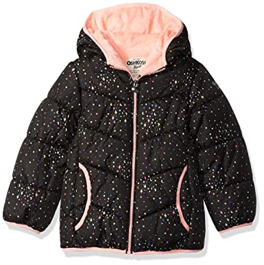 405f97567d3b Amazon.com  OshKosh B Gosh Baby Girls  Perfect Puffer Jacket  Clothing