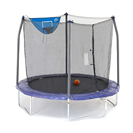 Skywalker Trampolines 8-Foot Jump N' Dunk Trampoline- Top Pick Backyard Trampoline
