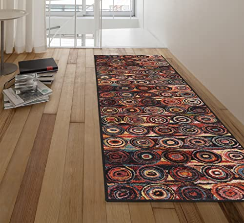 Ottomanson Rnb2166-20X59 Rainbow Collection Runner Rug, 20 x 59