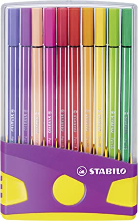 Premium Filzstift Stabilo Pen 68 Colorparade In Lila Gelb 20er Pack Mit 20 Verschiedenen Farben Bürobedarf Schreibwaren