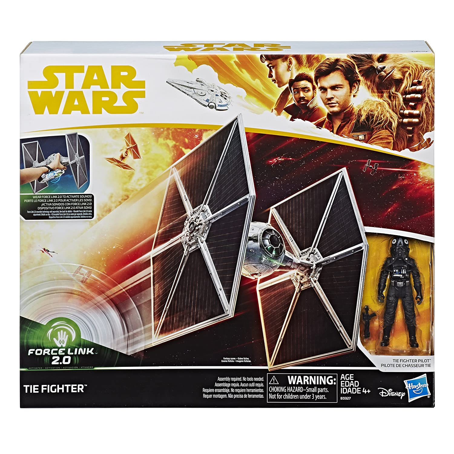 Star Wars Force Link 2.0 Tie Fighter & Tie Fighter Pilot Figure Hasbro E0327