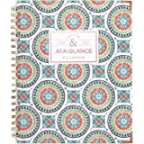 """at-A-Glance Academic Weekly/Monthly Planner, July 2018 - June 2019, 8-1/2"""" x 11"""", Hardcover, Badge Tile (6124T-905A)"""