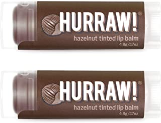 product image for Hurraw! Hazelnut Tinted Lip Balm, 2 Pack: Organic, Certified Vegan, Cruelty and Gluten Free. Non-GMO, 100% Natural Ingredients. Bee, Shea, Soy and Palm Free. Made in USA