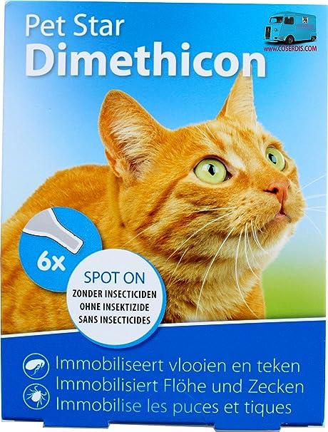 Pipetas para gatos anti anti pulgas y garrapatas natural al dimeticona 6 x 1,5
