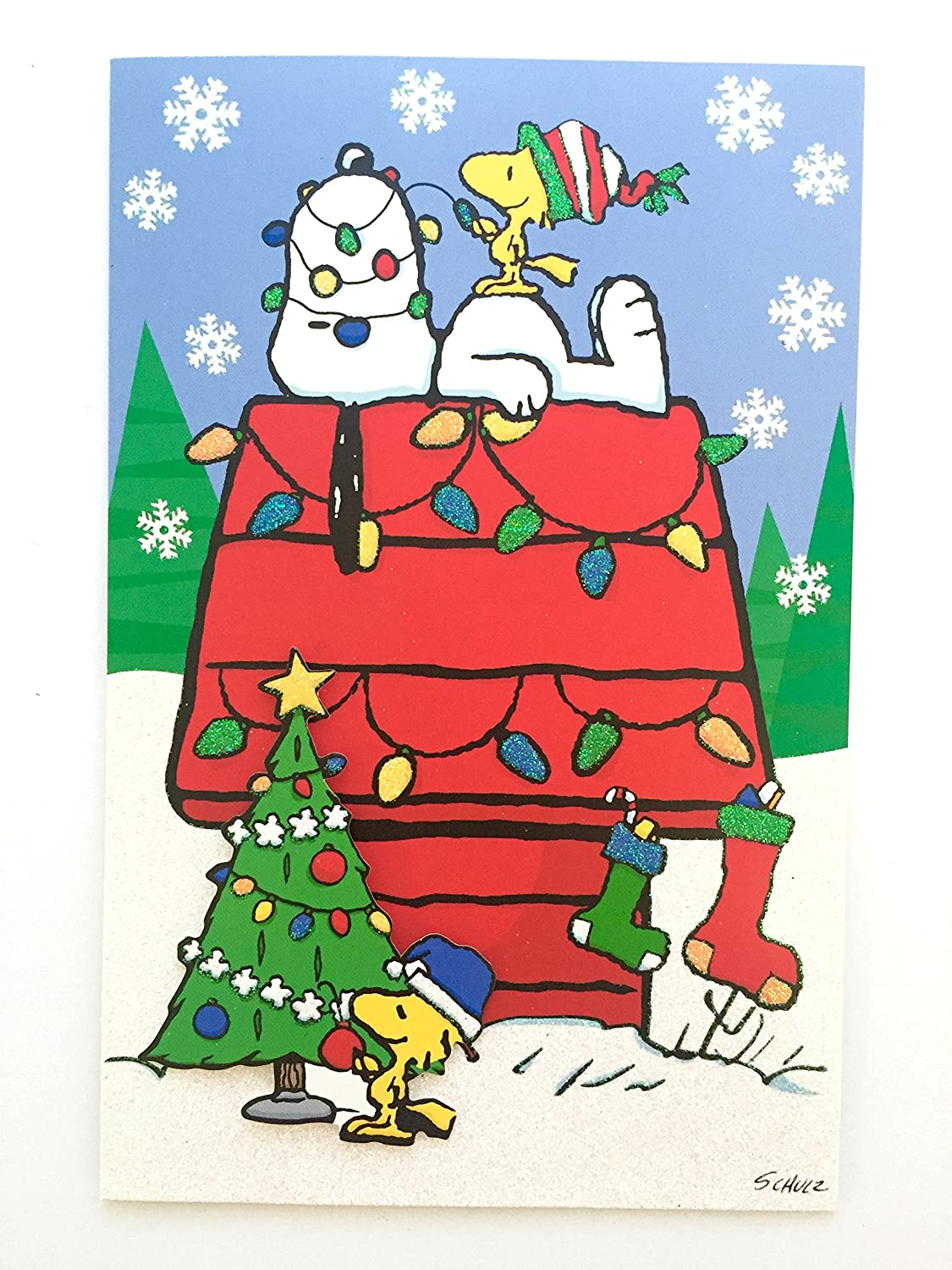 hallmark peanuts snoopy and woodstock holiday christmas cards box set of 18 with self sealing envelopes and 3 gift card holders amazoncouk office - Snoopy And Woodstock Christmas