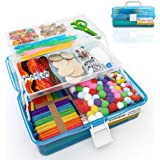 Kreativz Jumbo 1800pc Arts & Crafts Supplies Set for Kids: Giftable Craft Kit Box for Kids of All Ages, Great for DIY, School