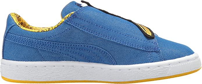 PUMA MINIONS BASKET WRAP STATEMENT LEATHER PUMA WHITE//YELLOW 36408501