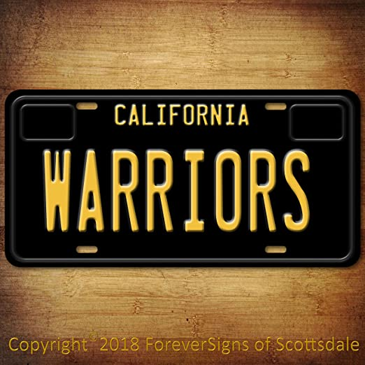 Los Angeles California Novelty State Background Metal License Plate With Sticky Notes