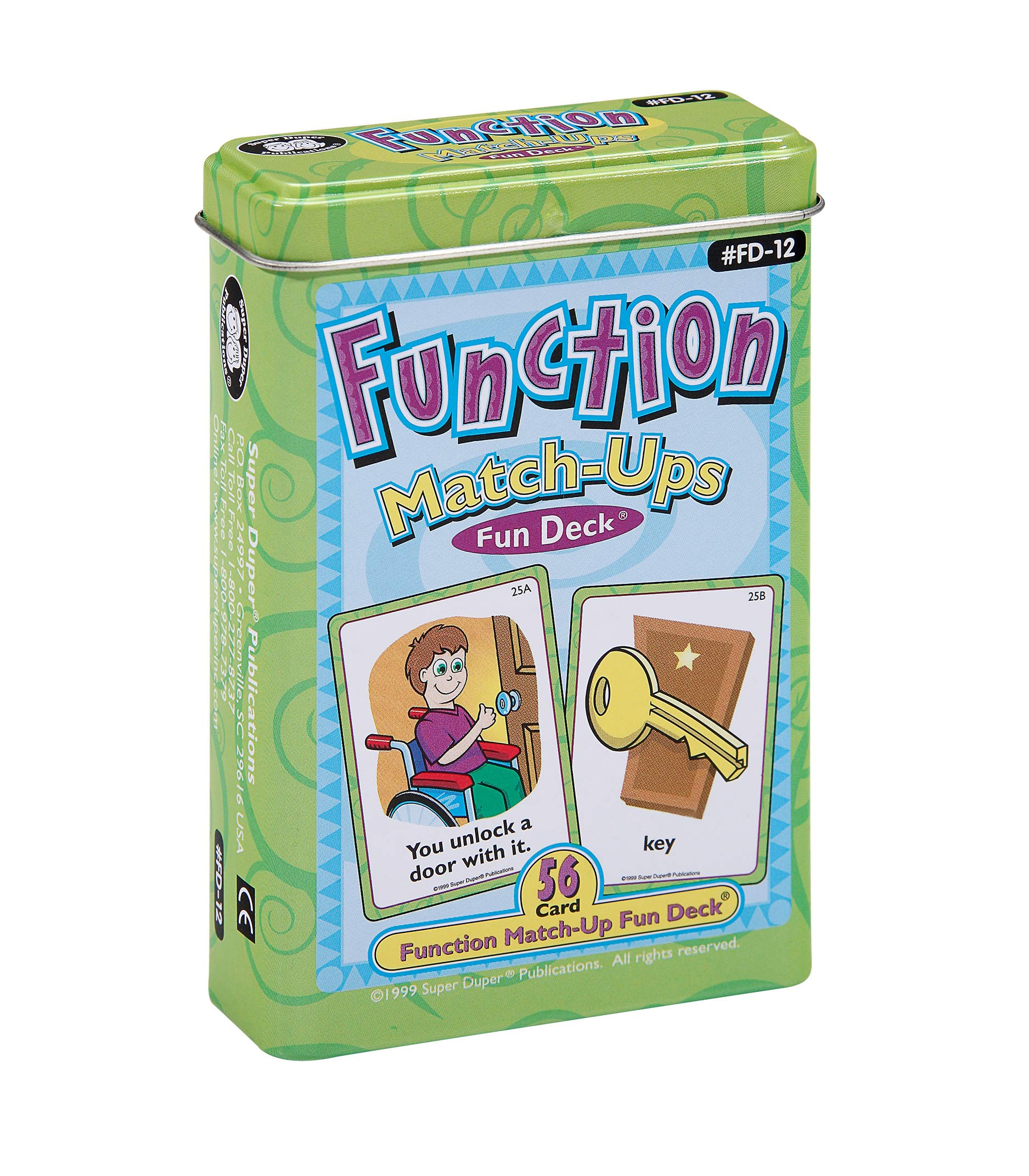 Super Duper Publications | Function Match-Ups Flash Cards | Identify and Describe Everyday Objects Fun Deck | Educational Learning Materials for Children