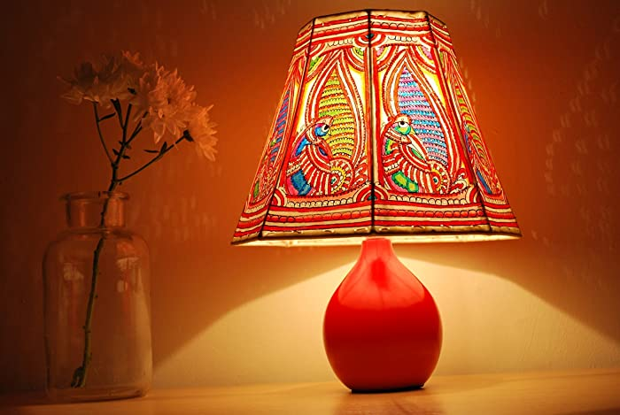 Amazon indian ethnic lampshade vintage art bed lamps indian ethnic lampshade vintage art bed lamps night shades free matching base aloadofball Choice Image