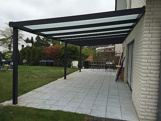 ECO LINE Ecoline - Cubierta para terraza (Aluminio, 5,06 x 3 m): Amazon.es: Jardín