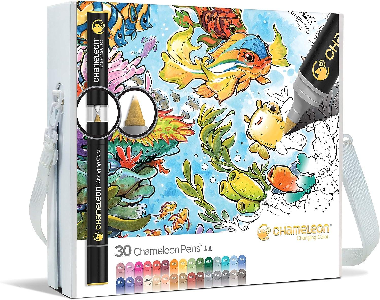 Chameleon Art Products - 30 deluxe rotuladores de alcohol permanentes