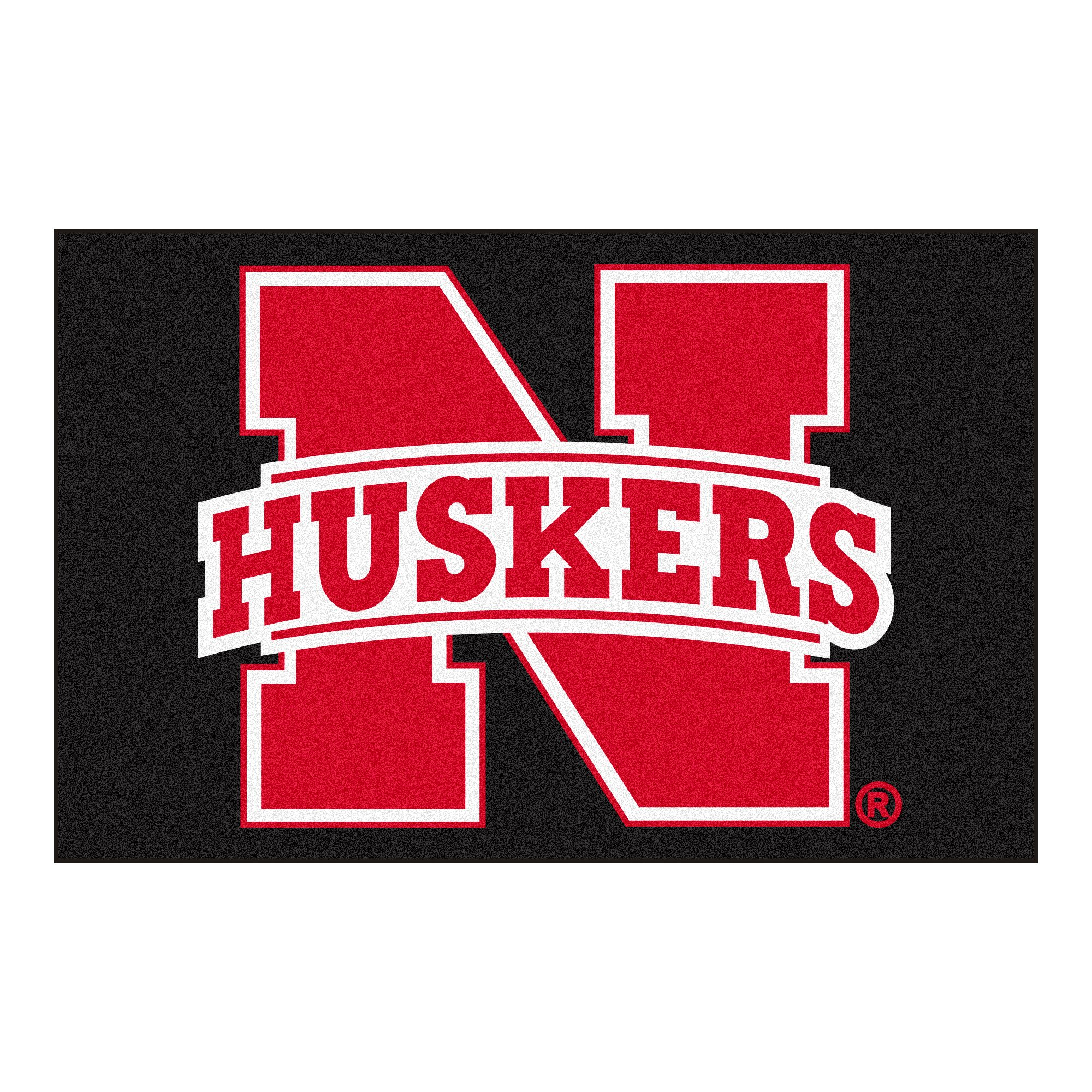 FANMATS NCAA University of Nebraska Cornhuskers Nylon Face Starter Rug by FANMATS