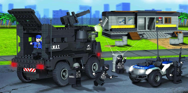 amazon com cobi action town police s w a t team 500 piece toys