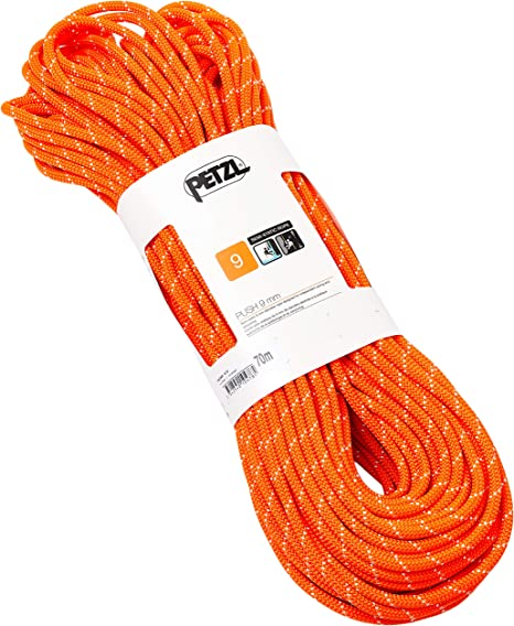 PETZL Push 9 Mm Cuerda, Adultos Unisex, Naranja, Uni: Amazon ...