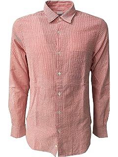 ASPESI chemise homme rayé blanc rouge, avec manches long et poche, modèle  RÉDUIT 7d0c3b97b894