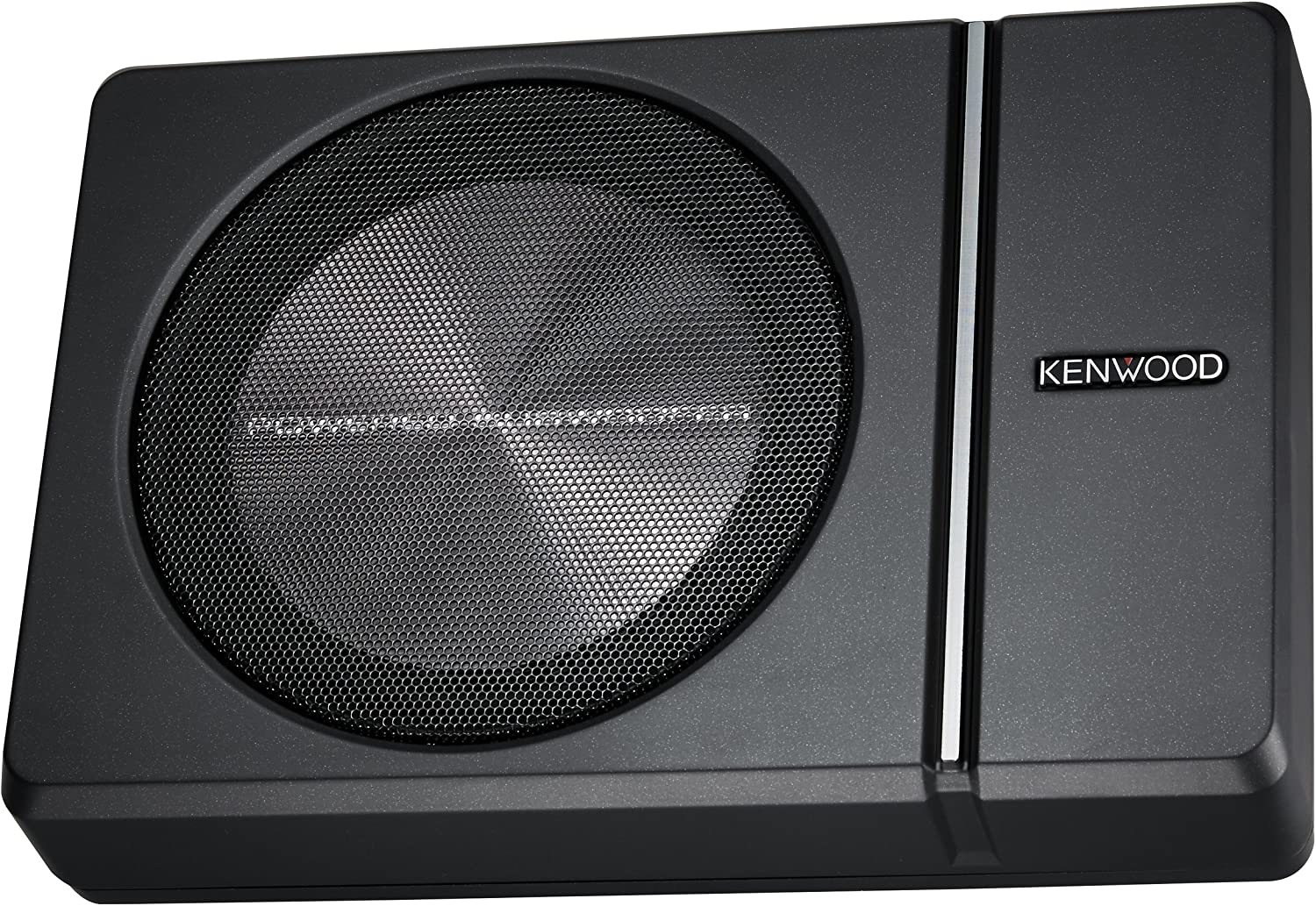 "Kenwood KSC-PSW8 250W Max (150W RMS) Single 8"" Under Seat Powered Subwoofer Enclosure W/Remote Control"