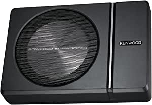 """Kenwood KSC-PSW8 250W Max (150W RMS) Single 8"""" Under Seat Powered Subwoofer Enclosure W/Remote Control"""