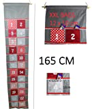 Advent Calendar size XXL with large pockets to fill up fill yourself for adults and children