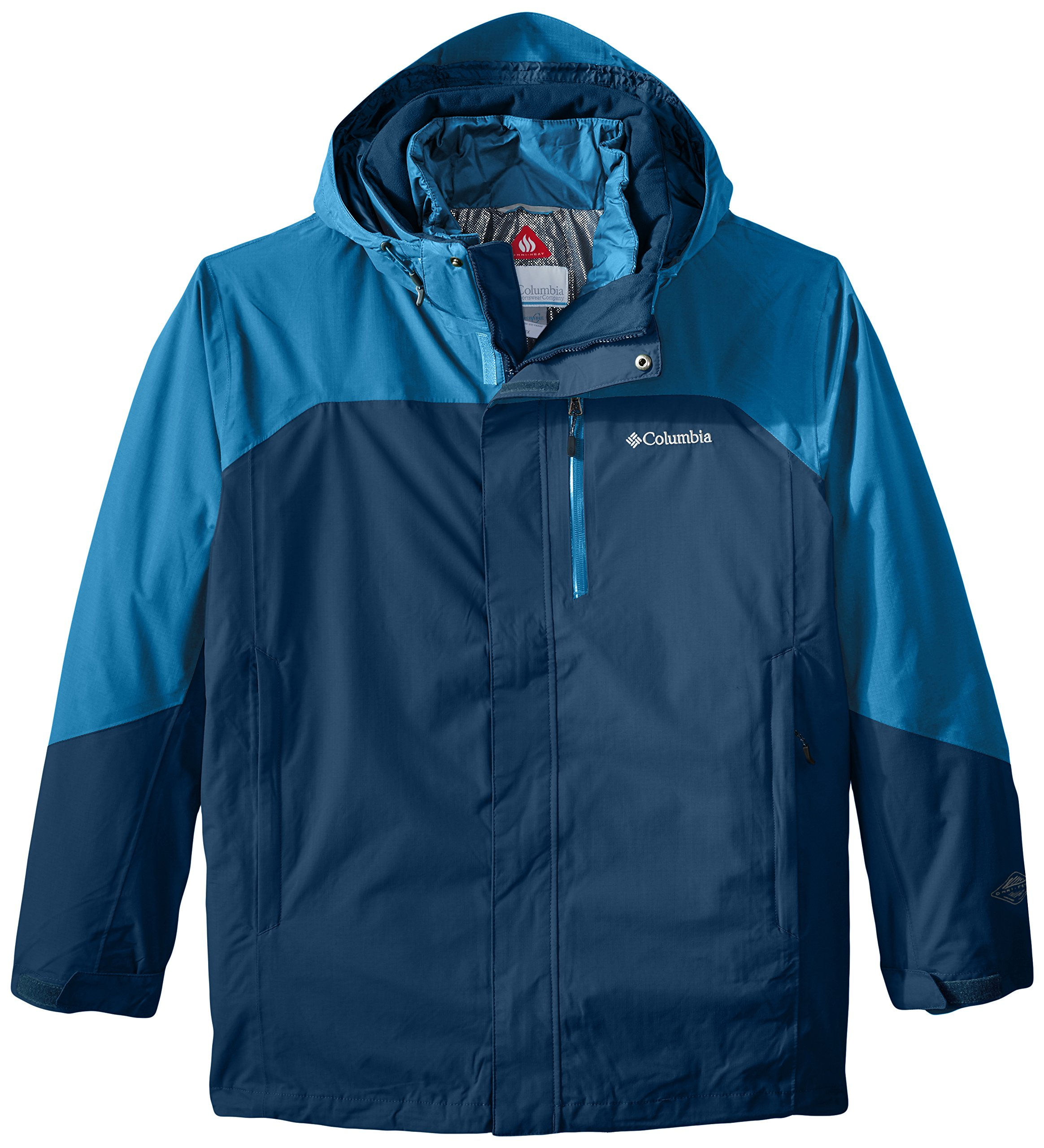 Columbia Men's Big-Tall Lhotse II Interchange Jacket, 1X, Phoenix Blue/Dark Compass by Columbia