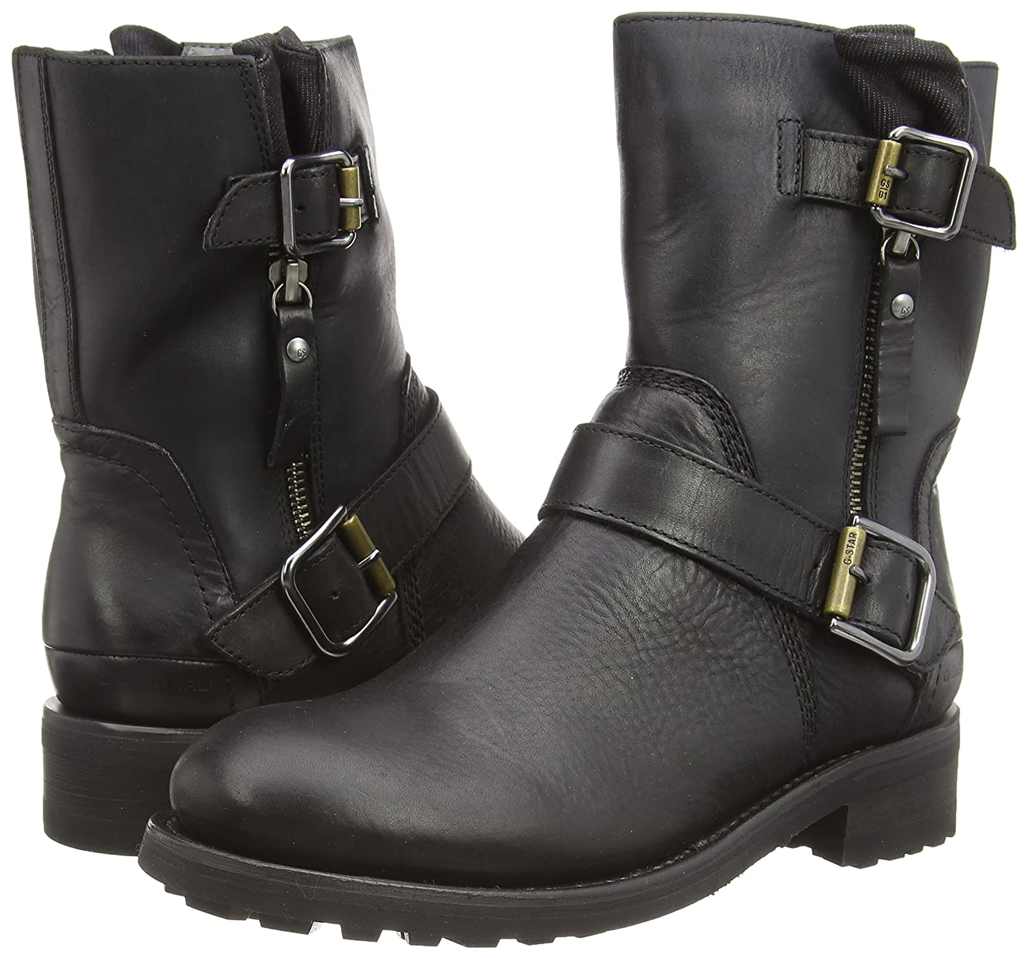GStar Foundry Rigger II Womens Combat Boots Black Black 3 UK 36 EU Amazoncouk Shoes  Bags