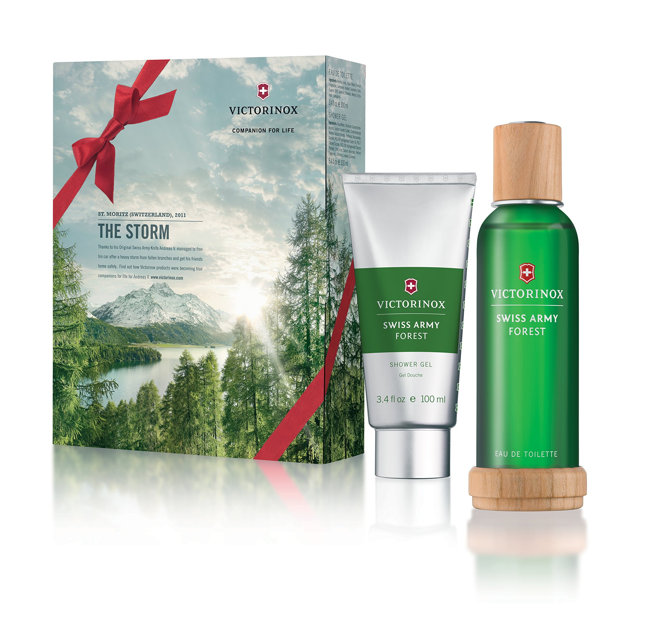 Victorinox Swiss Army Forest Eau de Toilette 3.4 Ounce Gift Set with Shower Gel