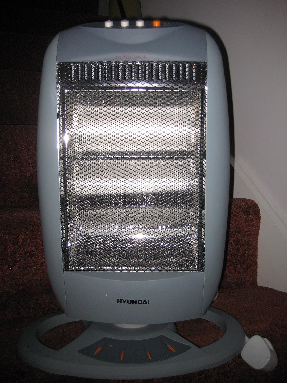 Hyundai Oscillating Halogen Heater, 1200 Watt 255059