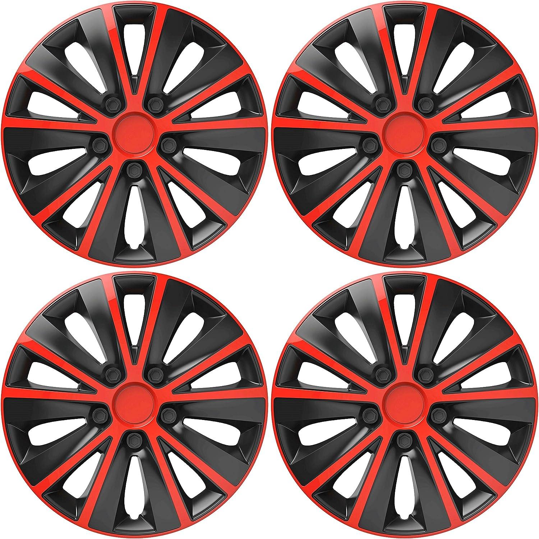 "105 16/"" HUB CAPS 16 Inch Wheel Trims HQ ABS Plastic Universal Push-In Set of 4"