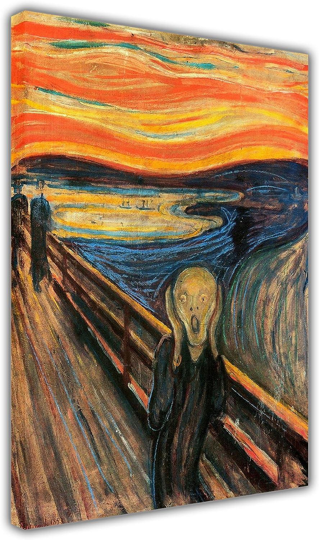 Lienzo impreso el grito Edvard Munch famosa obra maestra Retrato Imprime fotos decoración del hogar fotos decoración de las habitaciones, lona madera, 8- A1 - 24